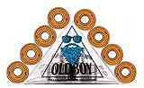Oldboy Verchromte Kugellager für Skateboards, Longboards, Quad-Skates, Rollschuhe oder Roller