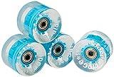 Ridge Cruiser Rollen Skateboard Blaze LED Leuchtrollen Mini Räder, Blue, R-BLAZE-LED