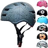 Skullcap® Skaterhelm Erwachsene Anthrazit Crack - Fahrradhelm Herren ab 14 Jahre Größe M 55-58 cm - Scoot and Ride Helmet Adult Anthracite - Skater Helm für BMX Inliner Fahrrad Skateboard