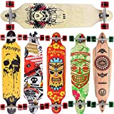 MARONAD Longboard SKULL drop through Race Cruiser ABEC 11 Skateboard