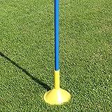 Superspieler24 5 x Slalomstange 170 cm mit Standfuß für Fußballtraining (blau)